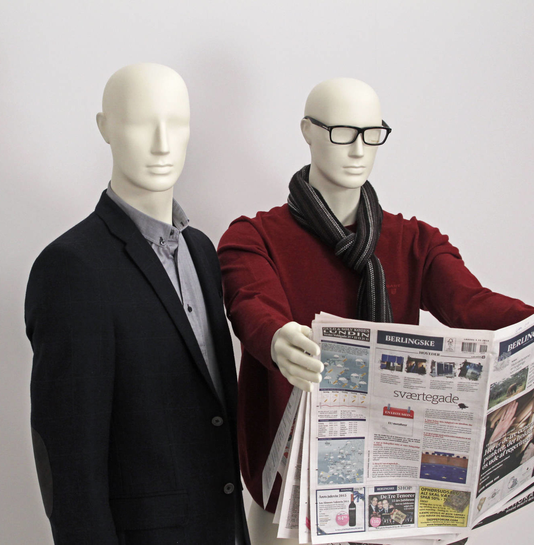 Fashion mannequin som leveres både i herre og dame modeller