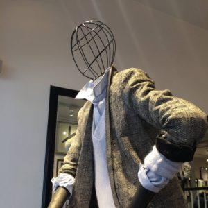 Vintage mannequiner med gitter / tråd hoved