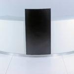 Den eksklusive disk er her vist med en kasseskjuler. Flere buede diske kan sammensættes til en stor enhed.