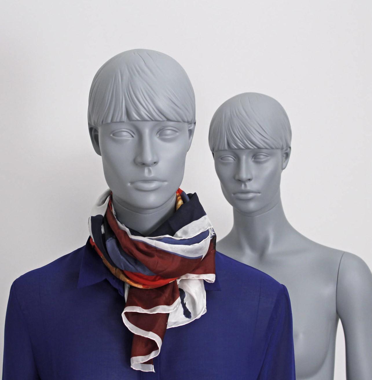 Dame mannequin med hoved i en moderne grå farve