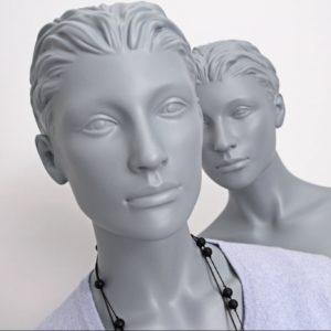 Modegrå stilistisk dame mannequin