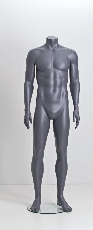 Flot og maskulin hovedløs herre mannequin i flot grå