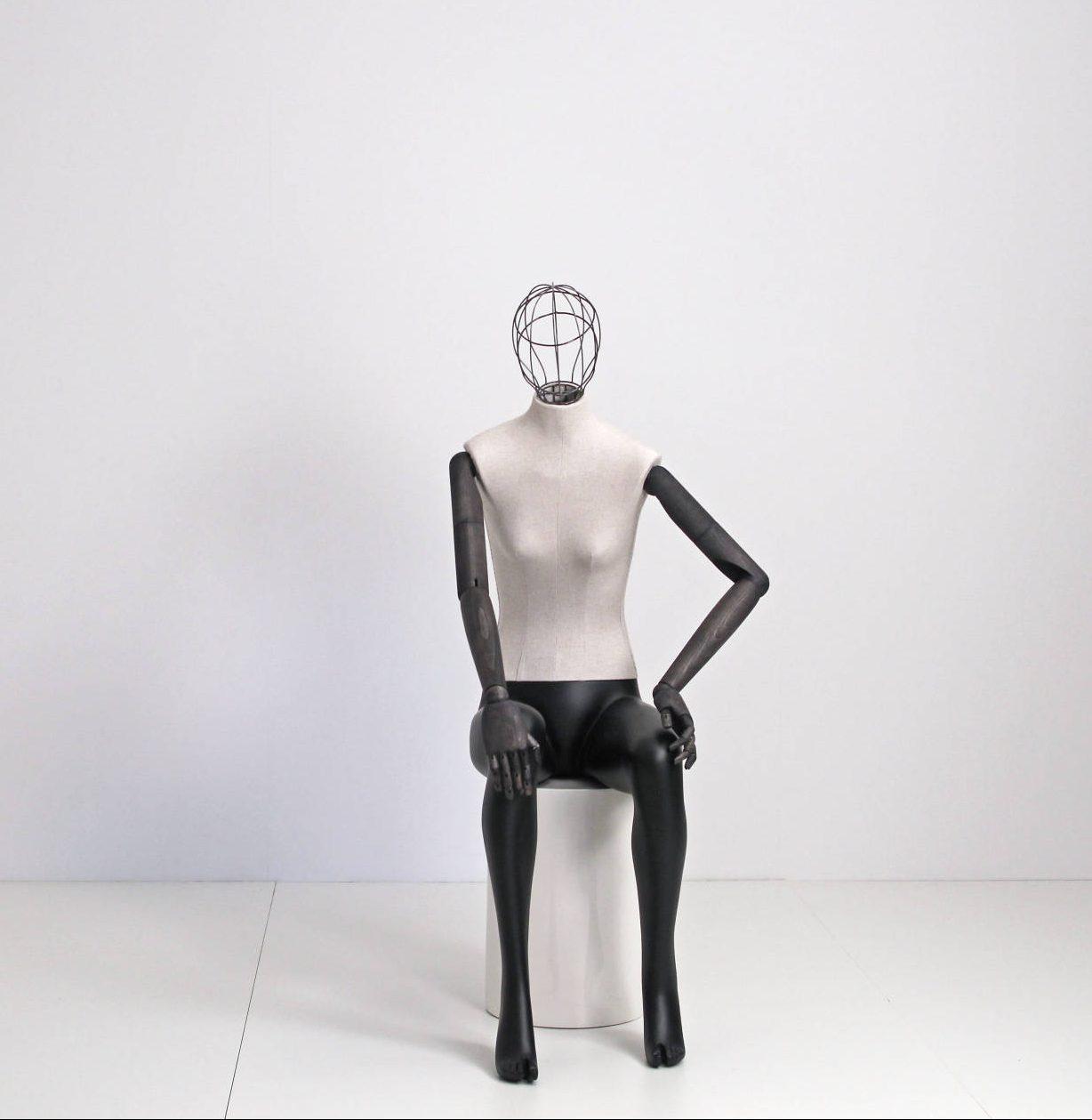 Vintage mannequinermed gitter / tråd hoved