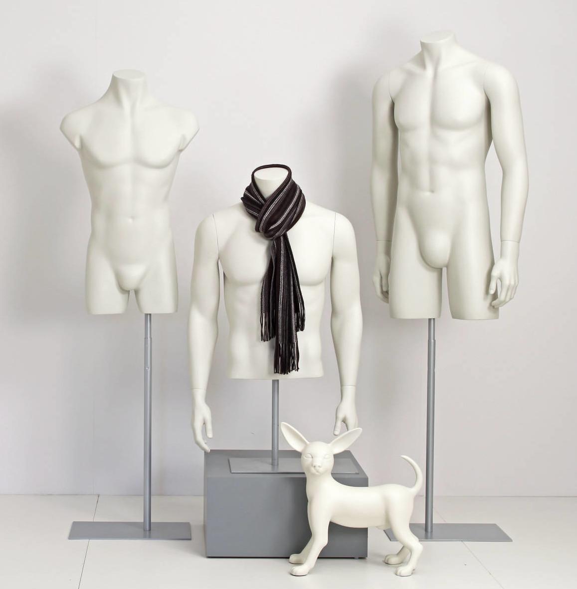 Mannequin torso i lys farve