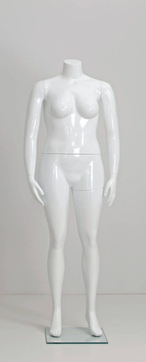 hovedløs plus size dame mannequin