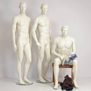 herre mannequin i flere modeller