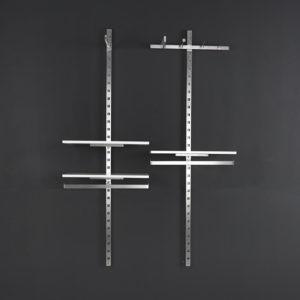 Vægindretningen TREND er et spændende inventarsystem som kan anvendes på kun 1 vægsøjle eller traditionelt mellem 2 søjler. Butiksinventar