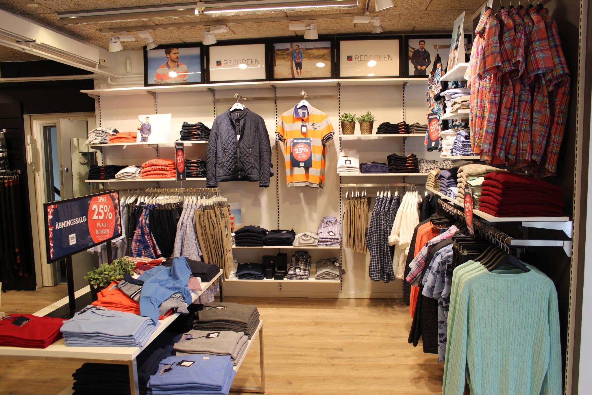 Butiksindretning til herrebutik