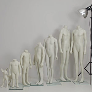 headless børne mannequiner